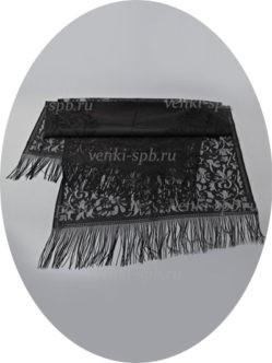 Черный ритуальный шарф на голову для похорон купить в спб