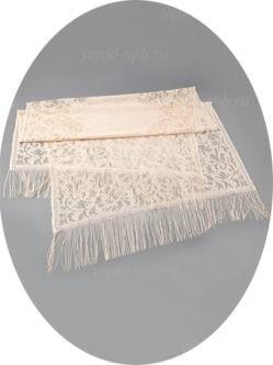 Бежевый шарф для умершей в гроб