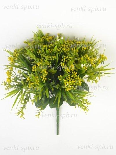 Искусственные цветы Букет пластиковый Витланд — желтый - Фото 1 | Компания «Венок»