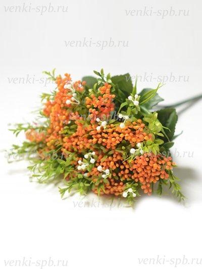 Искусственные цветы Букет пластиковый Витланд — оранжевый - Фото 1   Компания «Венок»