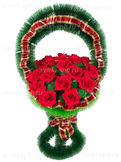 Медуница с бархатными розами - Фото 1 | Компания «Венок»
