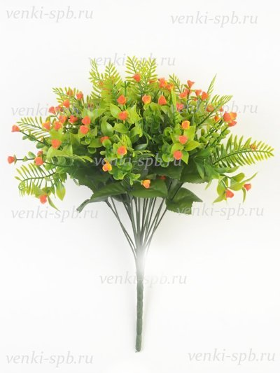 Искусственные цветы Букет гипсофилы Шасье — оранжевый - Фото 1 | Компания «Венок»