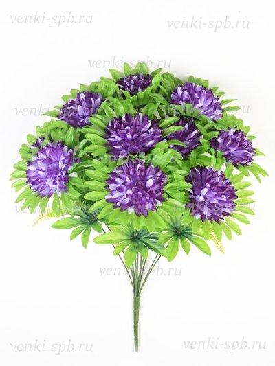 Букет хризантемы Яник – черничный - Фото 1 | Компания «Венок»