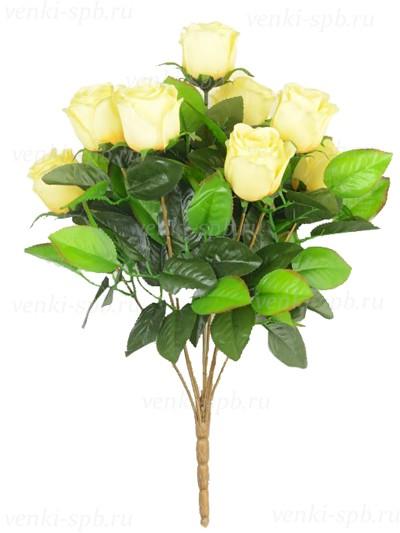 Букет бутонов роз ТРЕНТ- лимонный - Фото 1 | Компания «Венок»