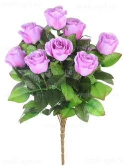 Высокий букет искусственных роз Трент сиреневый