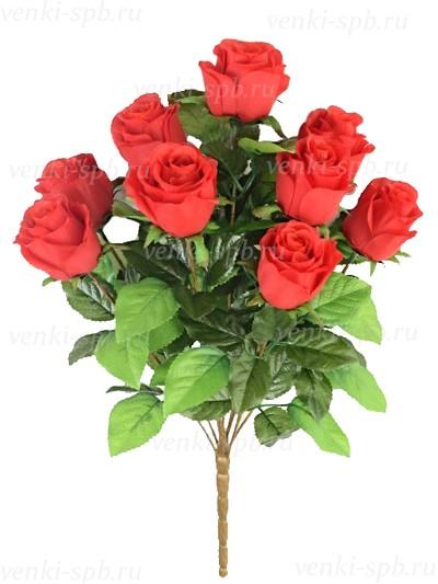 Букет бутонов роз ТРЕНТ- красный - Фото 2 | Компания «Венок»