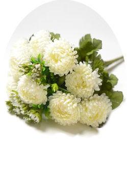 Букет белых хризантем на похороны в спб