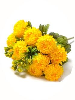 Букет желтых хризантем на похороны в спб