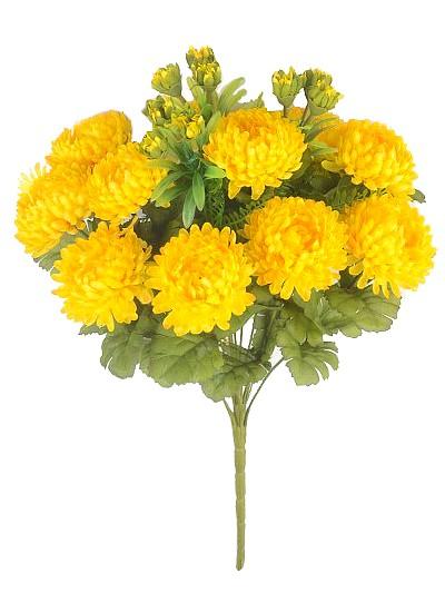 Букет хризантем Фейленд – желтый - Фото 2 | Компания «Венок»