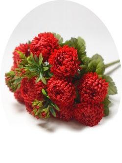 Букет красных хризантем на похороны в спб