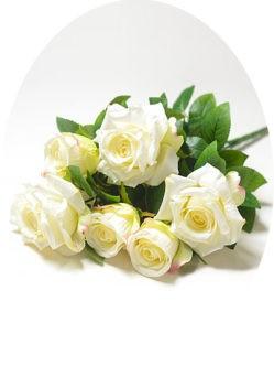 Букет белых роз Глазбури на могилу в спб