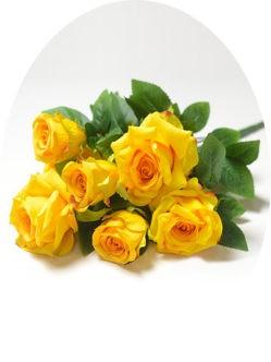 Букет желтых роз Глазбури на могилу в спб