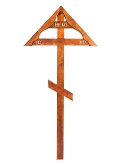 Светлый деревянный крест с домиком купить в спб