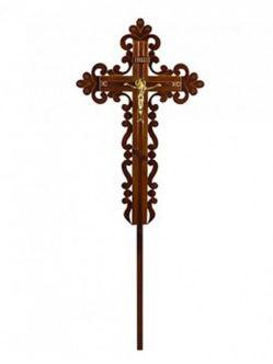 Сосновый ажурный крест на могилу в Санкт-Петербурге