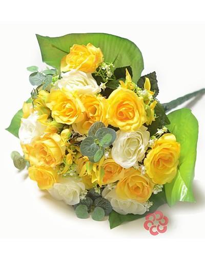 Букет клумба из бутонов роз Бревуд – желтый - Фото 1 | Компания «Венок»