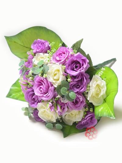 Букет клумба из бутонов роз Бревуд – сиреневый - Фото 2 | Компания «Венок»