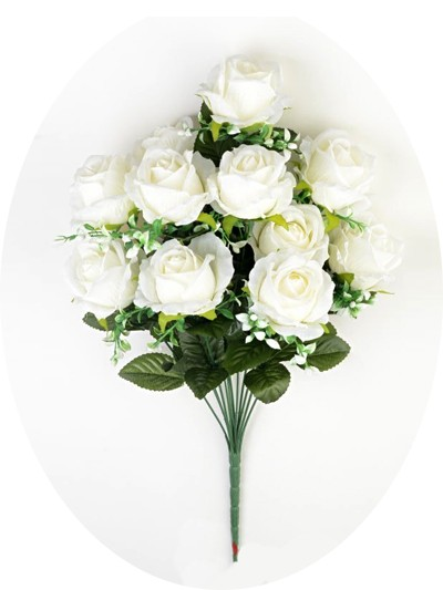 Букет роз Карнусти — белый - Фото 1 | Компания «Венок»
