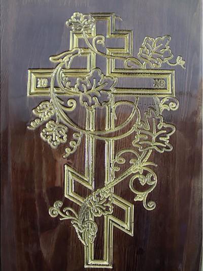 Гроб полированный «Лоза» четырехгранный темный - Фото 3 | Компания «Венок»
