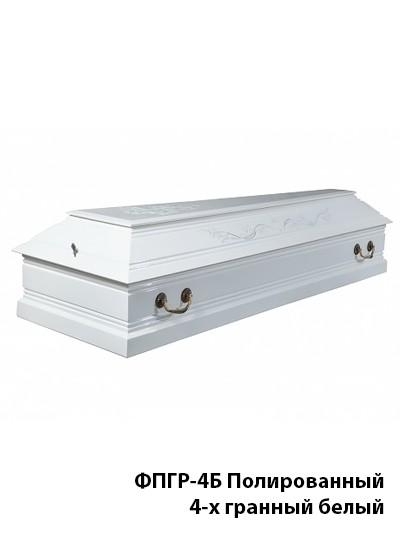 Гроб полированный «Лоза» четырехгранный белый - Фото 3 | Компания «Венок»