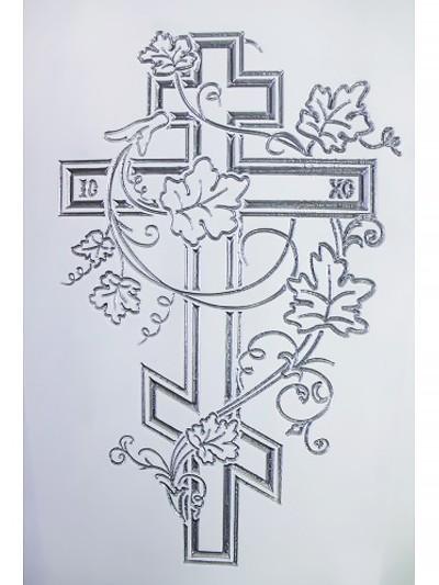 Гроб полированный «Лоза» четырехгранный белый - Фото 2 | Компания «Венок»
