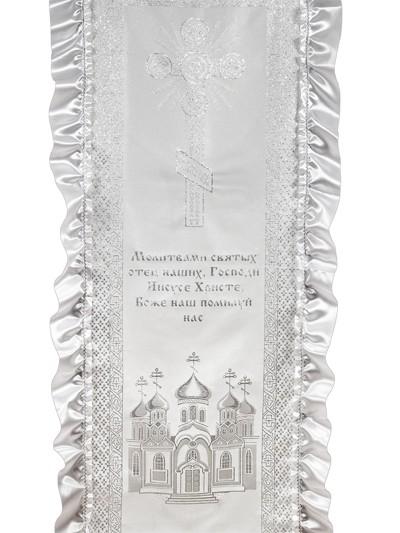 Комплект в гроб (покрывало и наволочка) Архангел - Фото 2 | Компания «Венок»