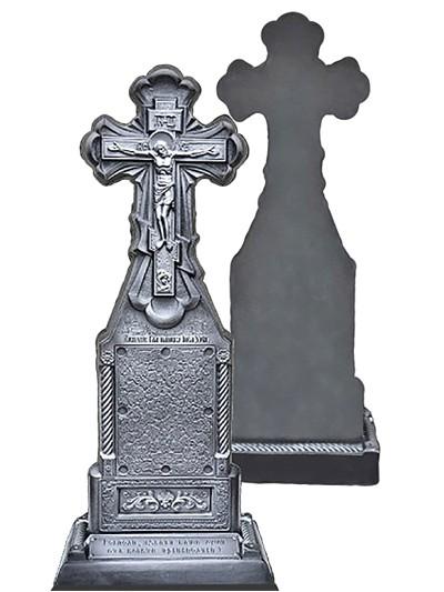 Крест из литого камня односторонний - Фото 1 | Компания «Венок»