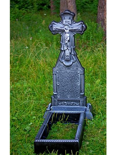 Крест из литого камня двусторонний - Фото 3 | Компания «Венок»