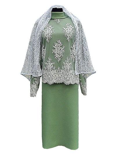 Платье женское элитное с шарфом - Фото 1 | Компания «Венок»