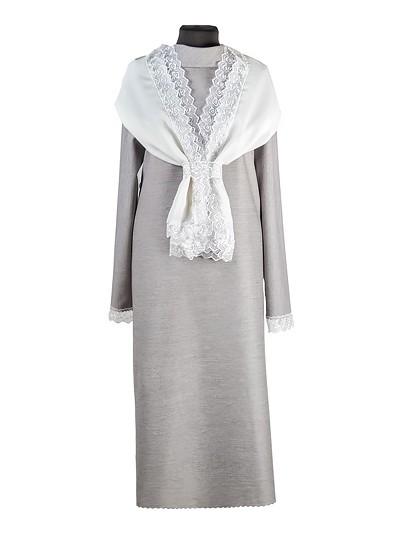 Платье женское люкс из плательной ткани с шарфом - Фото 1 | Компания «Венок»