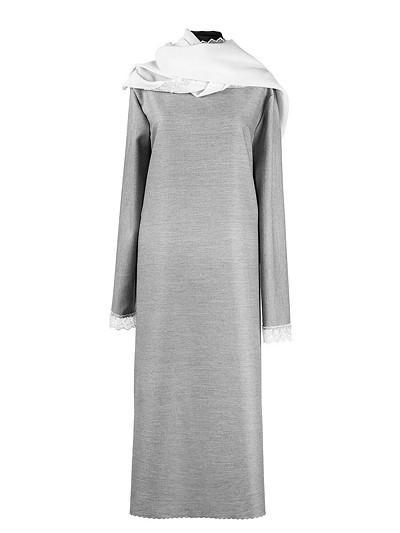 Платье женское люкс из плательной ткани с шарфом - Фото 4 | Компания «Венок»