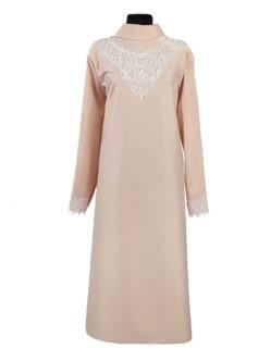 Платье женское ЛЮКС из плательной ткани с кружевом персиковое купить в санкт-петербурге