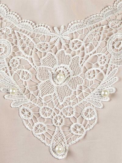 Платье женское люкс из плательной ткани с кружевом – персиковое - Фото 2 | Компания «Венок»
