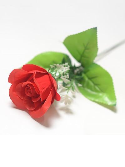 Одиночный бутон розы БРЕССО бархатный красный - Фото 1 | Компания «Венок»