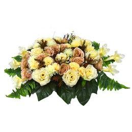 Композиция из цветов ( флоретка) или венок на гроб №6 заказать в спб