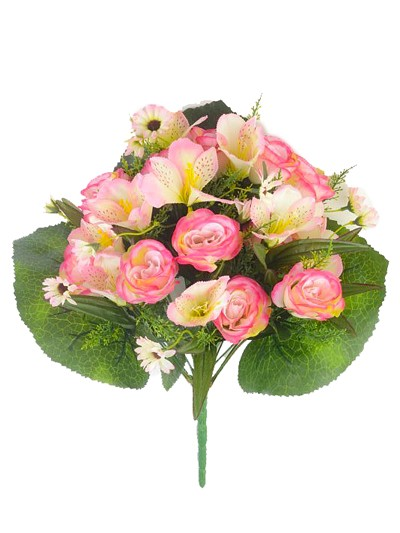 Букет роз Хортенс 24 веточки – розовый комби - Фото 1   Компания «Венок»