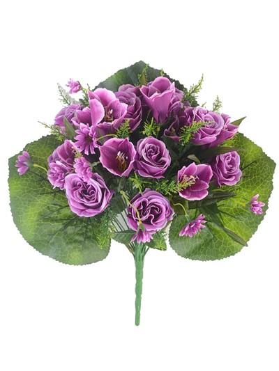Букет роз Хортенс 24 веточки — сиреневый - Фото 1 | Компания «Венок»
