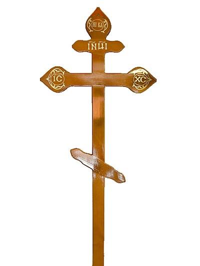 Крест сосновый КДС-15 фигурный светлый - Фото 1 | Компания «Венок»