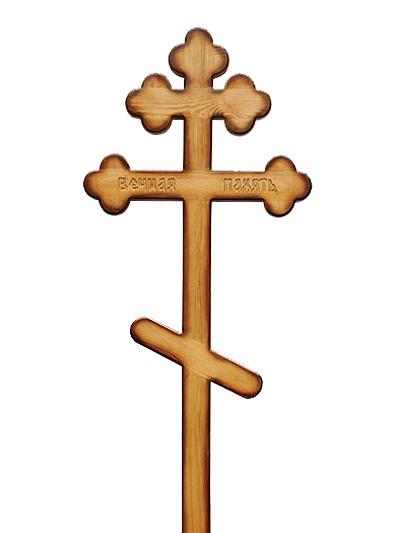 Крест сосновый КС-46 ажурный - Фото 1 | Компания «Венок»