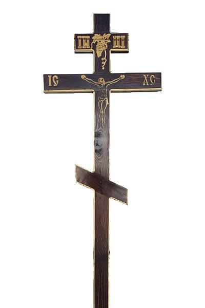 Крест сосновый КС-36 резной - Фото 2 | Компания «Венок»