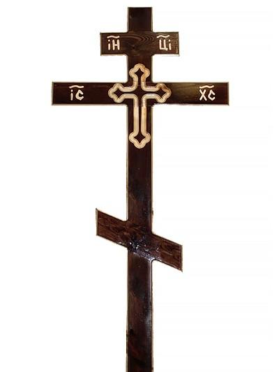 Крест сосновый КС-32 мореный - Фото 1   Компания «Венок»