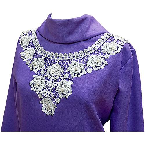 Платье габардиновое КЛАССИКА с воротником - Фото 3 | Компания «Венок»