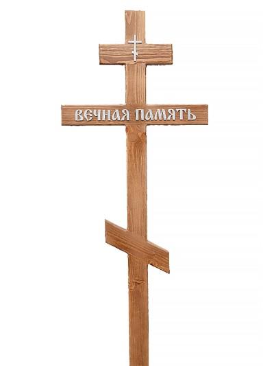 Крест сосновый КС-205 светлый - Фото 1 | Компания «Венок»