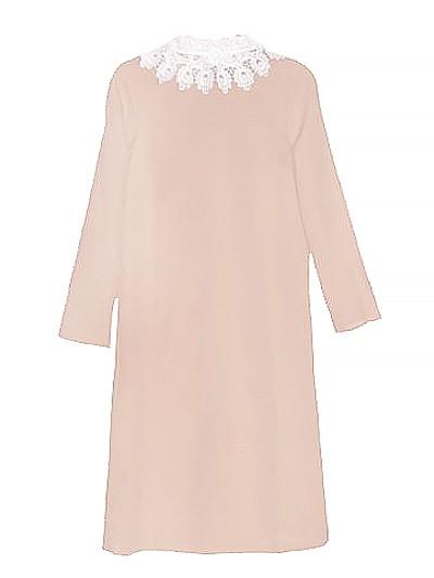 Платье с брошью (габардин + кружево) бежевое - Фото 2 | Компания «Венок»