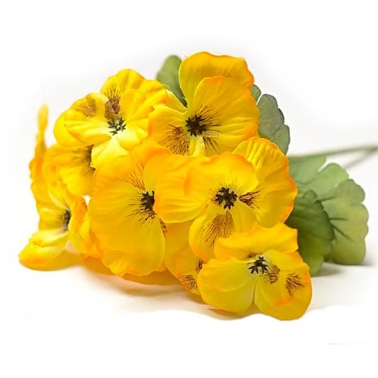 Букет анютиных глазок Баршам – желтый - Фото 1 | Компания «Венок»