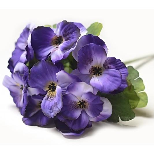 Букет анютиных глазок Баршам – фиолетовый - Фото 1 | Компания «Венок»