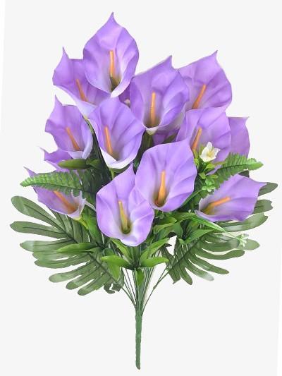Букет каллы КОБЭМ 19 веток фиолетовый - Фото 1 | Компания «Венок»