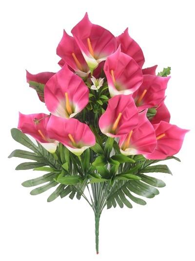 Букет каллы КОБЭМ 19 веток темно-розовый - Фото 1   Компания «Венок»