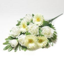 Веерный букет на похороны Турсо белый