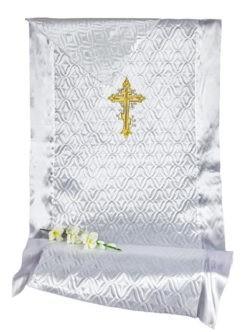 3331. Комплект СТЕЖКА с вышивкой КРЕСТ купить на похороны в спб