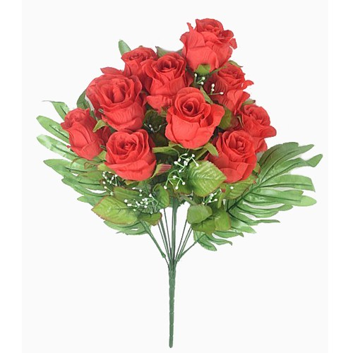 Букет бутонов роз ХЕЙДОК 12 голов – красный - Фото 1 | Компания «Венок»